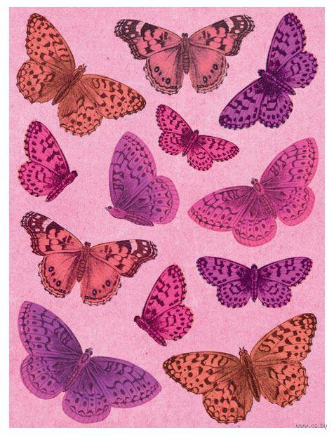 """Стикеры для скрапбукинга """"Бабочки. Люблю"""""""