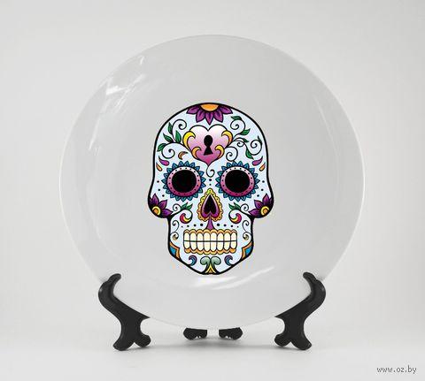 "Тарелка ""Мексиканский череп"" (142)"