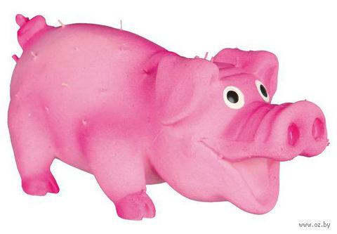 "Игрушка для собак со звуком ""Свинка"" (10 см) — фото, картинка"