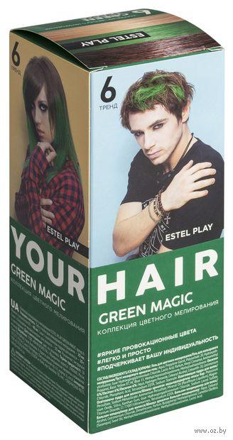 "Краска для волос ""ESTEL PLAY"" (тон: 6, green magic) — фото, картинка"