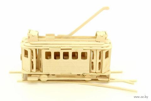 """Сборная деревянная модель """"Трамвай"""" — фото, картинка"""