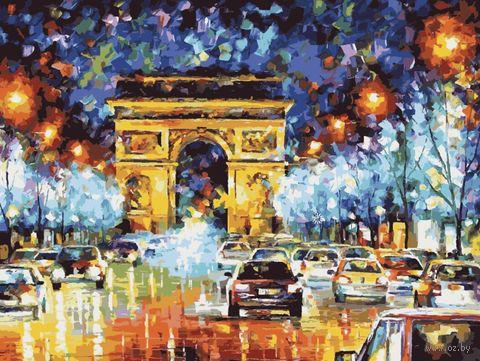 "Картина по номерам ""По пути к Триумфальной арке"" (400х500 мм) — фото, картинка"