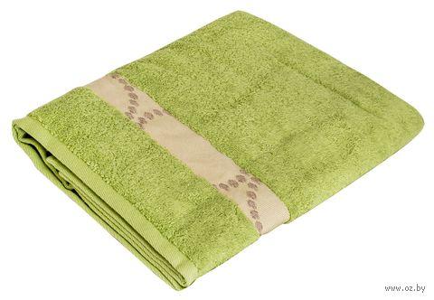 "Полотенце махровое ""Таллин. Круги"" (70x140 см; травяное) — фото, картинка"