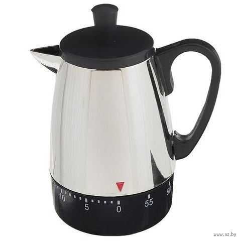 """Таймер кухонный пластмассовый """"Чайник"""" (5,8*8,8*10,4 см, арт. 4440023)"""