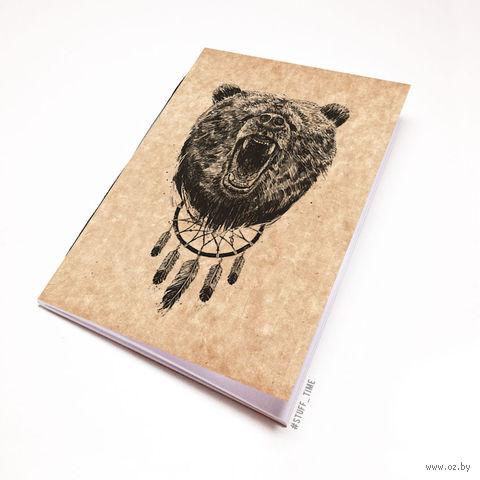 """Блокнот крафт """"Медведь"""" А6 (944)"""