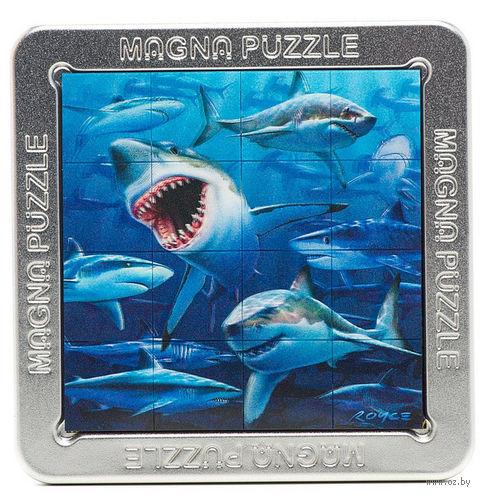 """Пазл магнитный """"Акулы"""" (16 элементов) — фото, картинка"""
