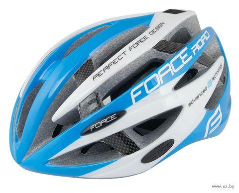 """Шлем велосипедный """"Road"""" (сине-белый; р. L-XL) — фото, картинка"""