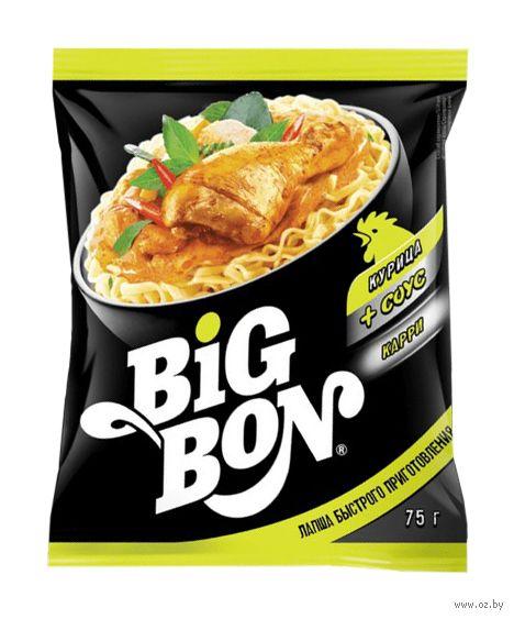 """Лапша быстрого приготовления с соусом """"Big Bon. Курица и соус карри"""" (75 г) — фото, картинка"""
