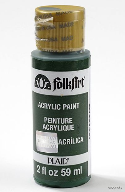 "Краска акриловая ""FolkArt. Acrylic Paint"" (темно-зеленый, 59 мл; арт. PLD-00406)"