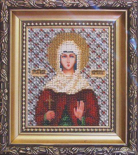 """Вышивка бисером """"Икона святая мученица Наталия"""""""