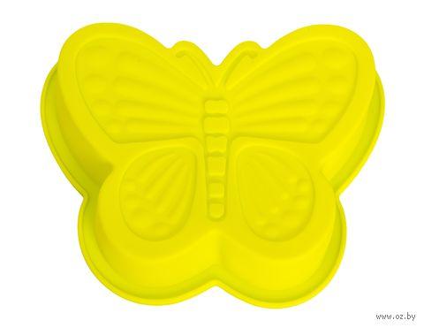 """Форма для выпекания силиконовая """"Бабочка"""" (165х135х35 мм; зеленая) — фото, картинка"""