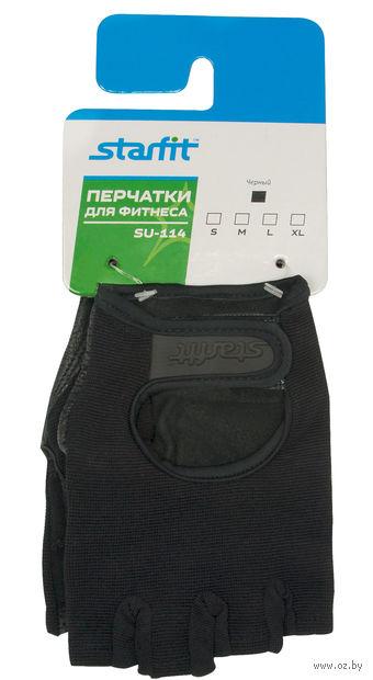 Перчатки для фитнеса SU-114 (L; чёрные) — фото, картинка