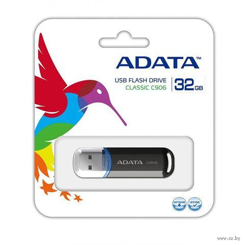USB Flash Drive 32Gb A-Data C906 (Black) — фото, картинка