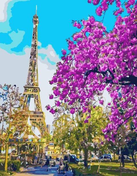 "Картина по номерам ""Цветущий Париж"" (500х650 мм) — фото, картинка"