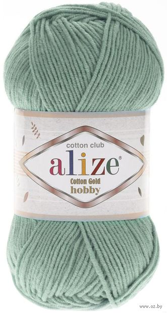 "Пряжа ""ALIZE. Cotton Gold Hobby №15"" (50 г; 165 м; водяная зелень) — фото, картинка"