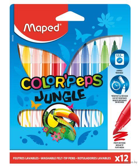 "Фломастеры ""Color Peps Jungle"" (12 цветов) — фото, картинка"