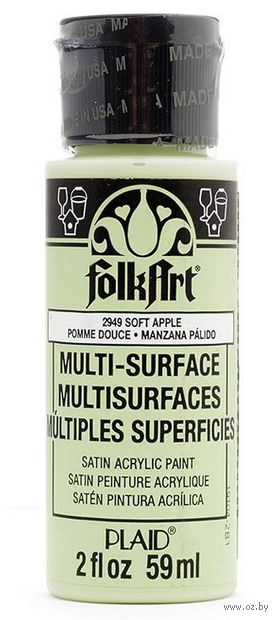 "Краска акриловая ""FolkArt Multi-Surface"" (яблоко, 59 мл; арт. PLD-02949)"