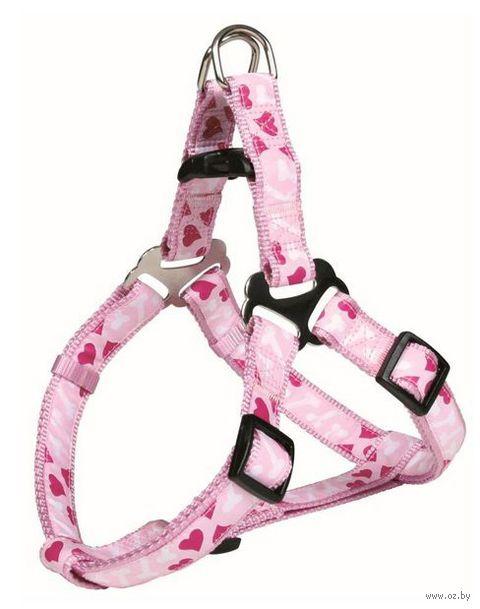 """Шлея для собак """"Modern Art Harness Rose Hearts"""" (размер S; 40-50 см; розовый)"""