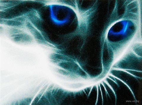 "Алмазная вышивка-мозаика ""Кошачий взгляд"" (300х400 мм) — фото, картинка"