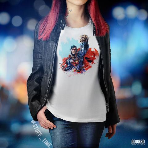 """Футболка женская """"Супермен"""" S (880)"""