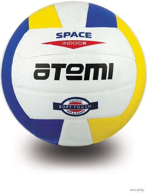 """Мяч волейбольный Atemi """"Space"""" №5 (бело-жёлто-синий) — фото, картинка"""