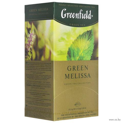 """Чай зеленый """"Greenfield. Green Melissa"""" (25 пакетиков) — фото, картинка"""