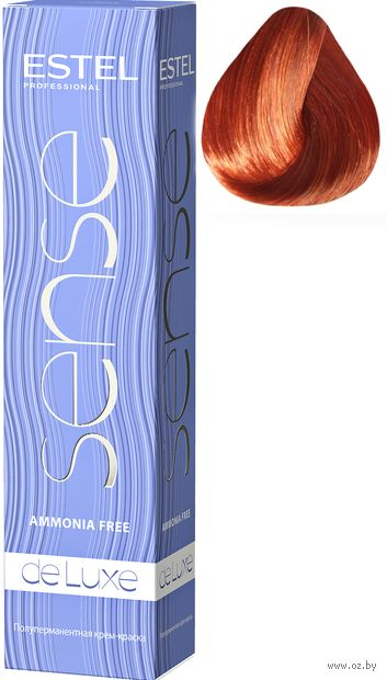 """Крем-краска для волос """"Sense De Luxe"""" тон: 7/54, русый красно-медный — фото, картинка"""