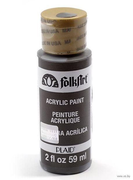 """Краска акриловая """"FolkArt. Acrylic Paint"""" (темно-серый, 59 мл; арт. PLD-00426)"""