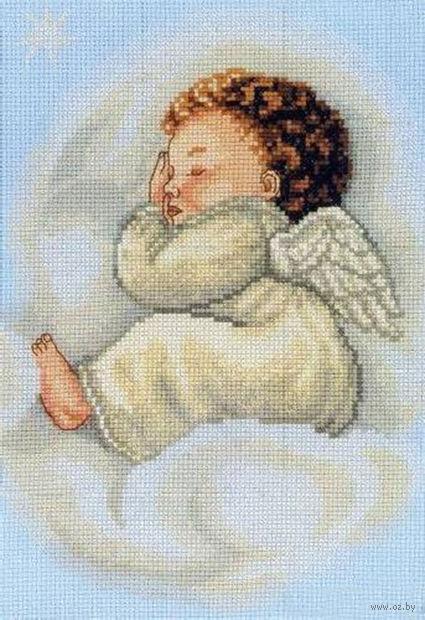 """Вышивка крестом """"Спящий ангел"""""""