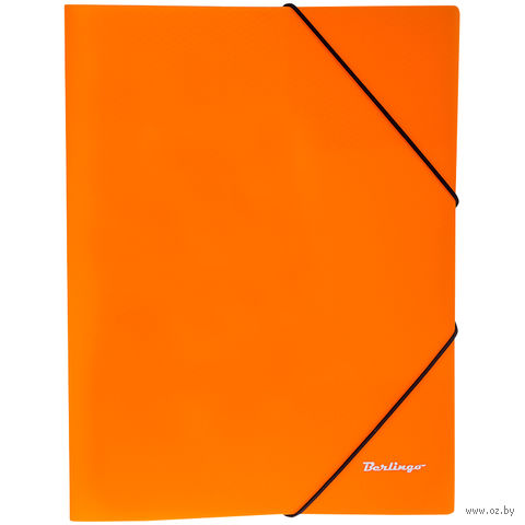 """Папка на резинке """"Neon"""" (А4; оранжевая) — фото, картинка"""