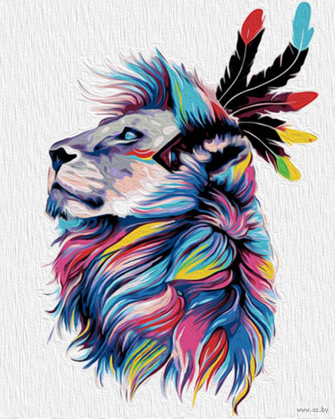 "Картина по номерам ""Король львов"" (500х400 мм) — фото, картинка"
