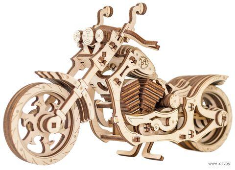 """Сборная деревянная модель """"Мотоцикл Cruiser"""" (масштаб: 1/11) — фото, картинка"""