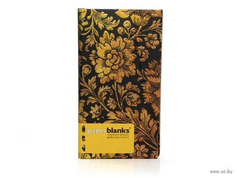 "Алфавитная книга Paperblanks ""Полуночное золото"" (формат: 95*180 мм, слим)"
