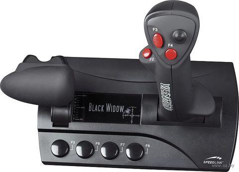 Джойстик проводной Speedlink Black Widow Flightstick с вибрацией for PC (SL-6640-SBK)