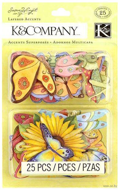 """Стикеры для скрапбукинга """"Весенние бабочки"""" — фото, картинка"""