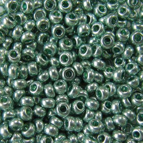 Бисер №18165 (светло-зеленый металлик, перламутровый)