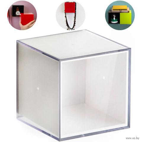 "Полка-вешалка ""Pixel"" (прозрачно/белая)"