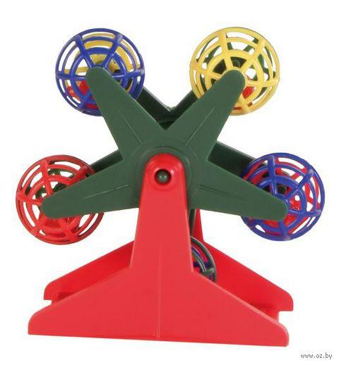 """Игрушка для птиц с трещащими шариками """"Колесо обозрения"""" (10 см) — фото, картинка"""