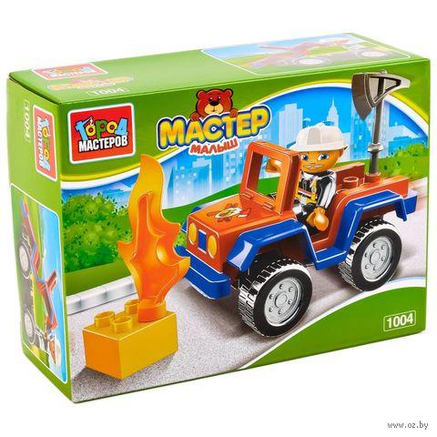 """Конструктор """"Большие кубики. Пожарная машина"""" (6 деталей) — фото, картинка"""