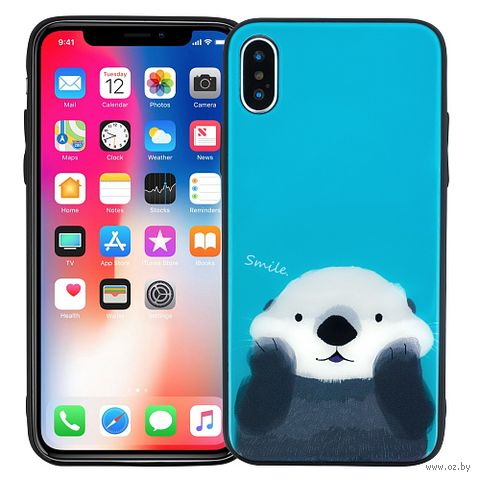 "Чехол для iPhone X/XS ""Cutie otter"" — фото, картинка"