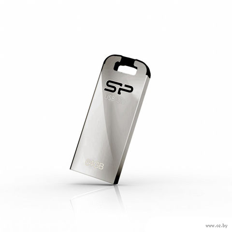 USB Flash Drive 64Gb Silicon Power Jewel J10 (Silver)