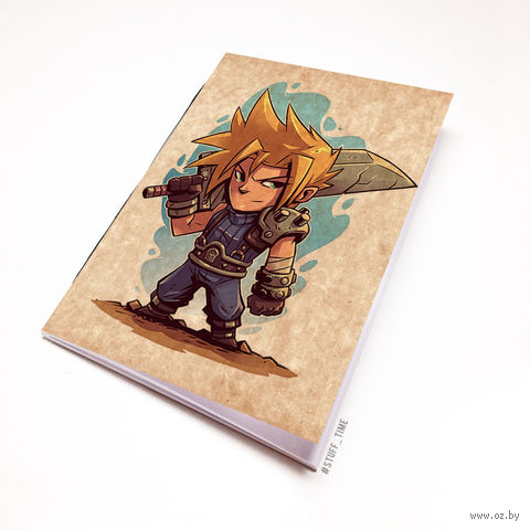 """Блокнот крафт """"Final Fantasy"""" (А7; арт. 886) — фото, картинка"""