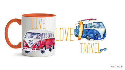"Кружка ""Live. Love. Travel"" (596)"
