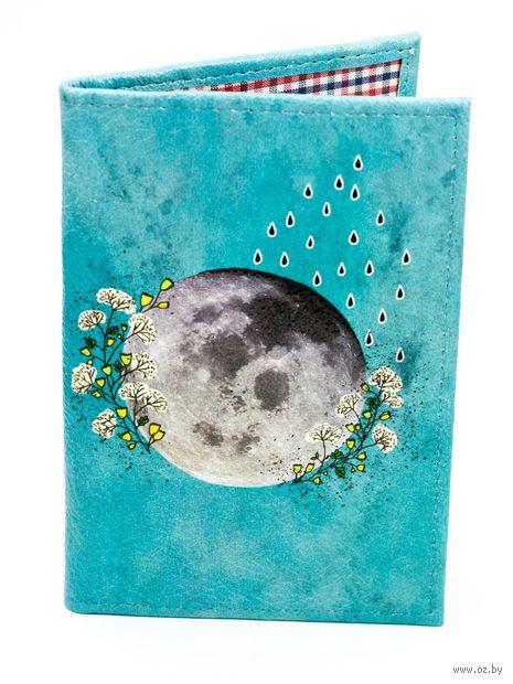 """Обложка на паспорт """"Луна"""" — фото, картинка"""