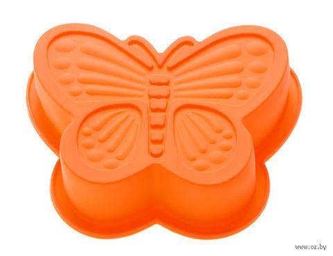 """Форма для выпекания силиконовая """"Бабочка"""" (165х135х35 мм; оранжевый) — фото, картинка"""