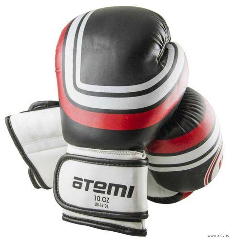 Перчатки боксёрские LTB-16101 (S/M; чёрные; 12 унций) — фото, картинка