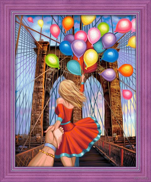 "Алмазная вышивка-мозаика ""Следуй за мной. Бруклин"" (400х500 мм) — фото, картинка"