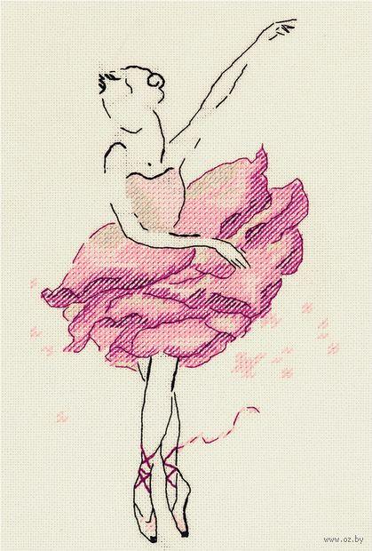 """Вышивка крестом """"Балерина. Роза"""" (140х220 мм) — фото, картинка"""