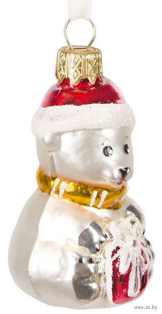 """Ёлочная игрушка """"Медвежонок с подарком"""" (арт. Ф-12) — фото, картинка"""