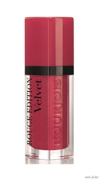 """Помада-флюид для губ """"Rouge Edition Velvet"""" тон: 02, красная ягода — фото, картинка"""
